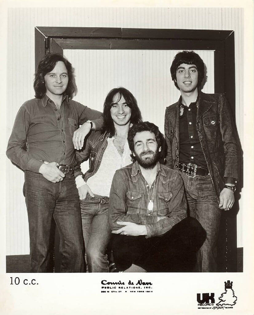 Early UK Records PR pose, 1972