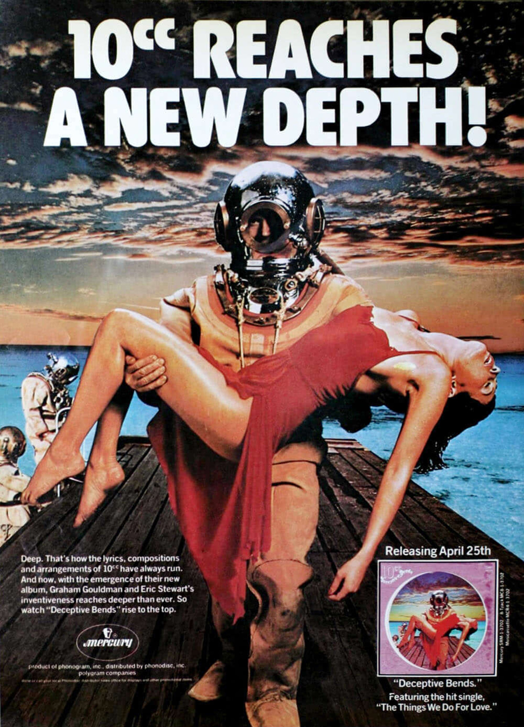 The ad campaign for 1977's Deceptive Bends made no mention of Godly & Crème having left