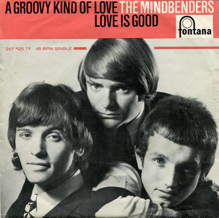 Eric Stewart (left) as a Mindbender, 1965